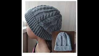 Шапка спицами / How to Knit a Hat
