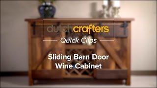 DutchCrafters Sliding Barn Door Wine Cabinet