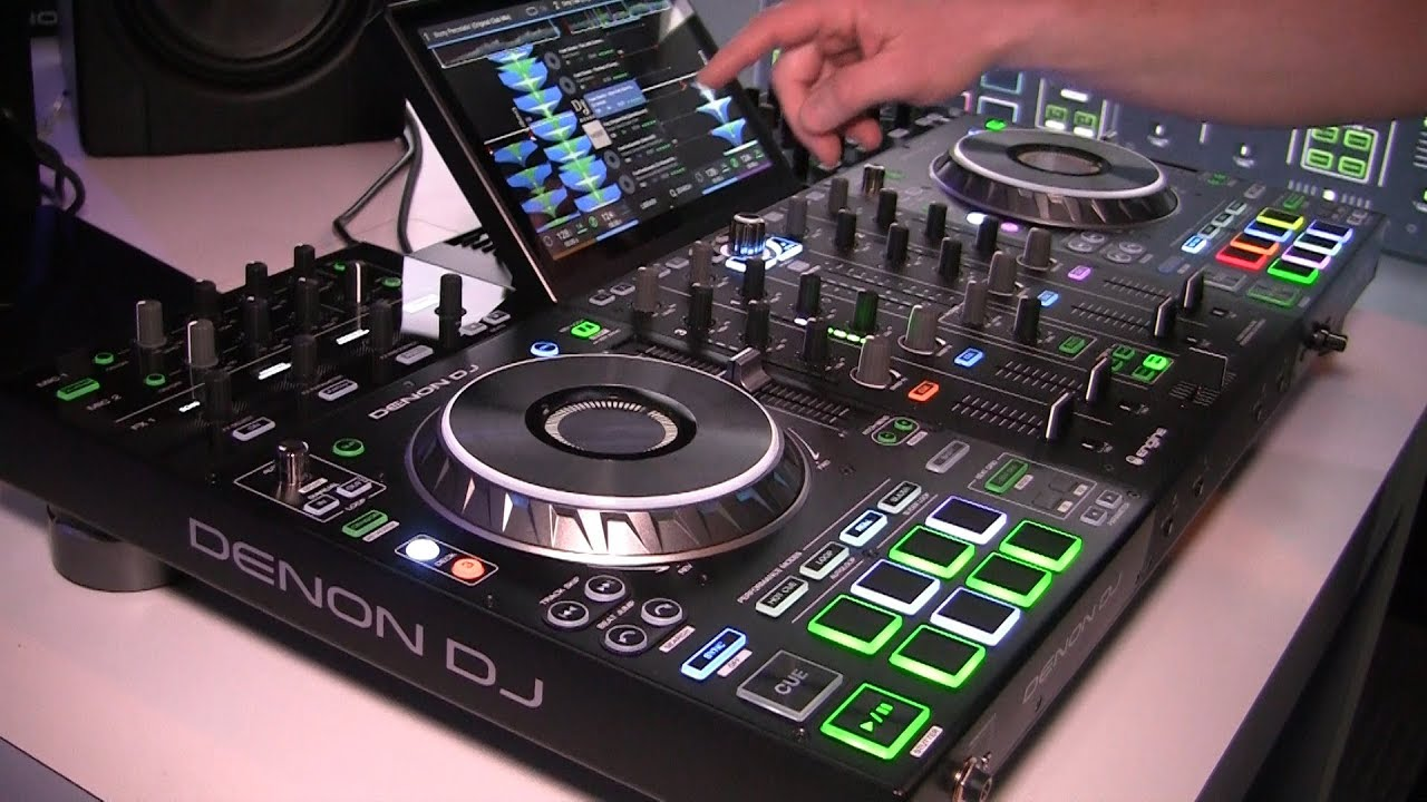 denon dj prime 4 all in one dj system and controller namm 2019 youtube. Black Bedroom Furniture Sets. Home Design Ideas