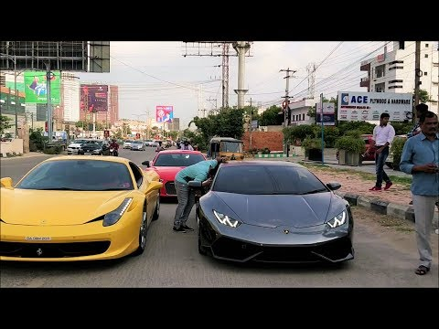 SUPERCARS IN INDIA🇮🇳 - September 2018(Hyderabad)!!