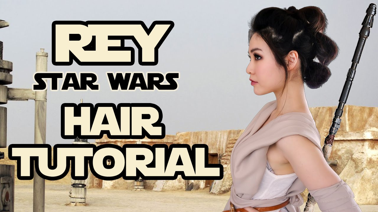 HAIR TUTORIAL: Star Wars Rey Simple Triple Buns! - YouTube