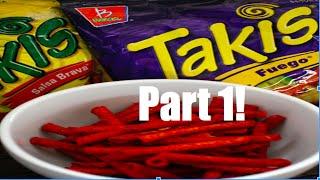 Trying 5 flavors of Takis: Takis Taste Test Part 1