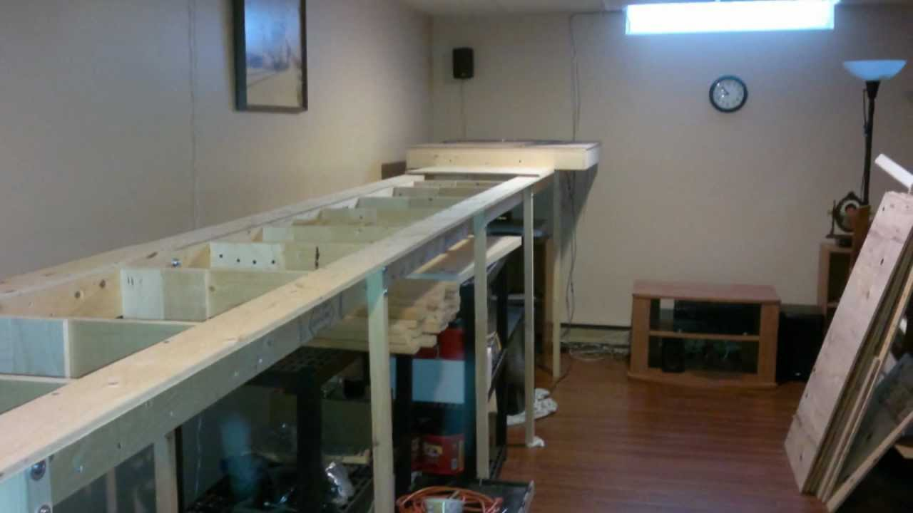 N Scale Layout The Making Of The 3ft X 24ft Benchwork And