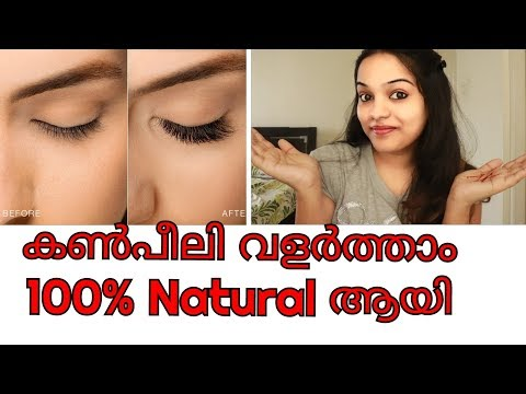 100% NATURAL DIY Grow Eyelashes Faster !! GO Glam with Keerthy