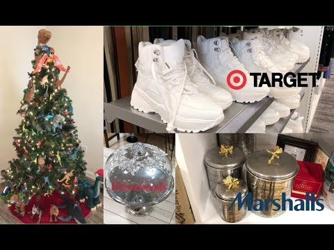 SHOP 5 STORES WITH ME! & MY SONS DINOSAUR CHRISTMAS TREE
