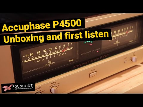 Accuphase  P4500 Power Amp Unboxing and Quick Listen