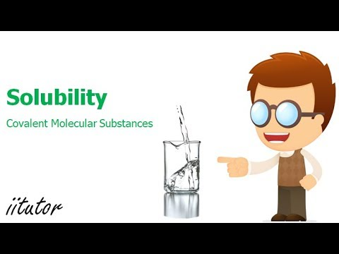√ Solubility Of Covalent Molecular Substances | Water | Chemistry