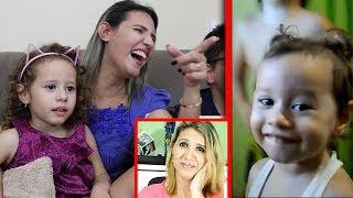 REAÇÃO A VÍDEOS ANTIGOS - Erlania e Valentina