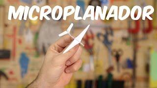 Faça o menor planador de papel do mundo! (brinquedo)