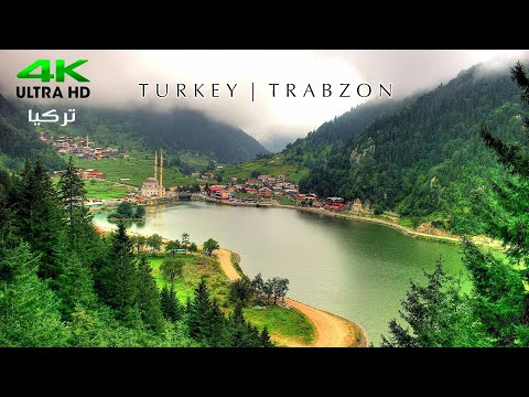 Flying over Trabzon Turkey 4K Ambient Drone Film | طرابزون تركيا تصوير درون