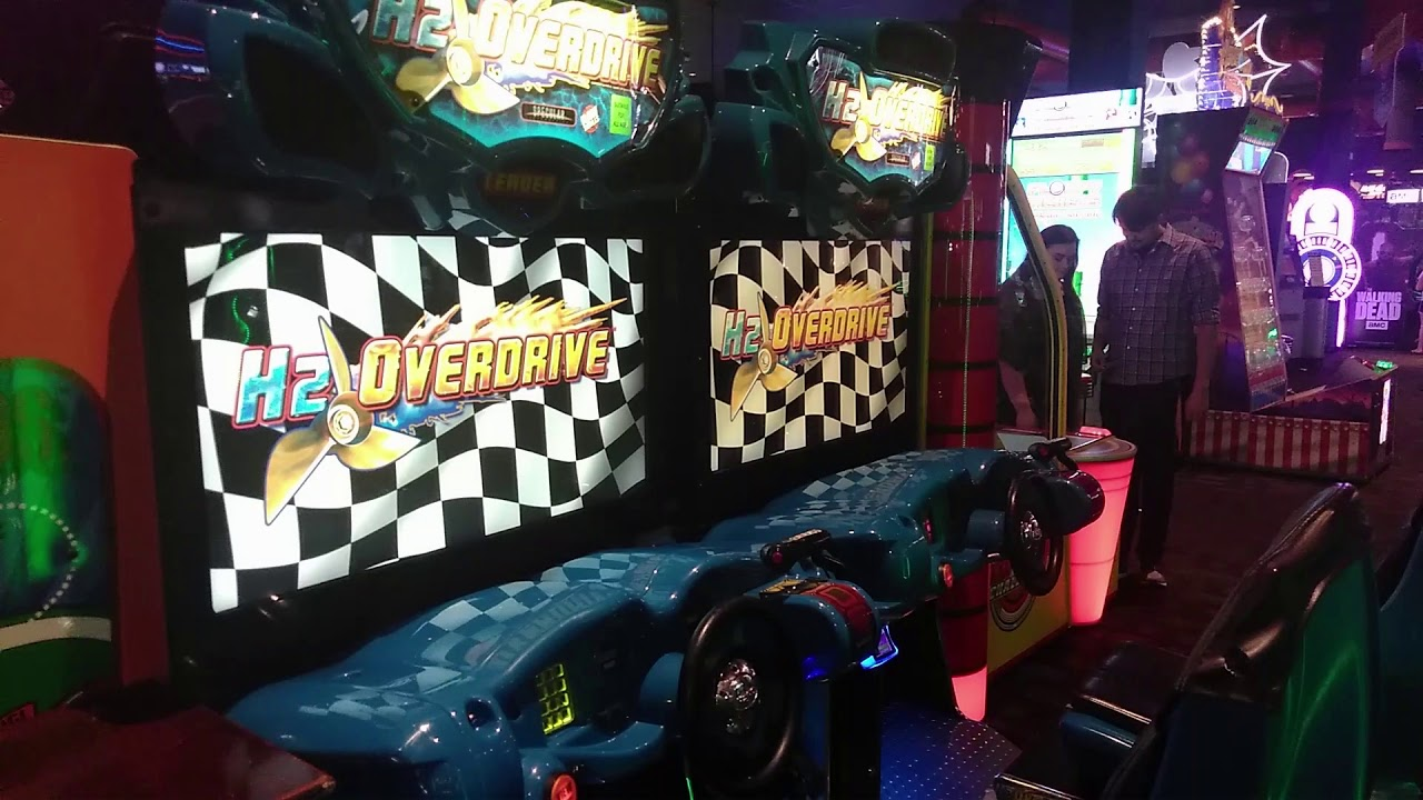 Playing Jet Ski Game At Dave And Busters Part 2