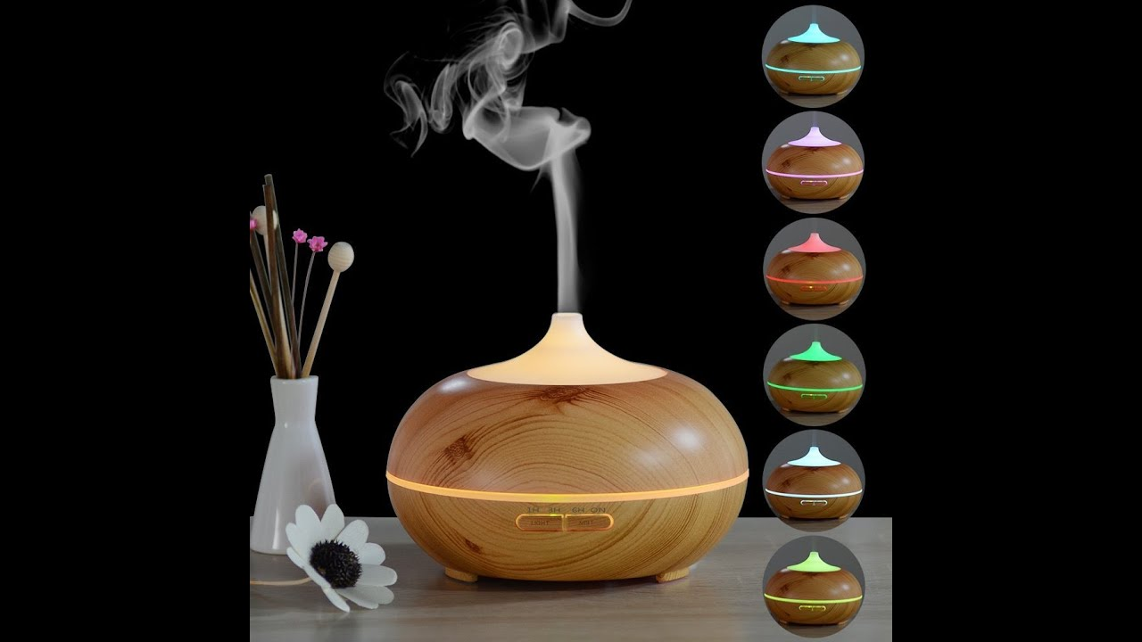 InnoGear 300ml Aromatherapy Essential Oil Diffuser Wood ...