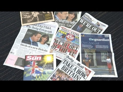 UK newspaper front pages the day after