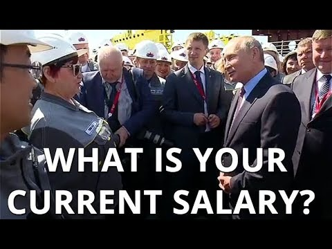 THE JOBS CREATOR: Putin Asks Workers Of Zvezda Shipyard: What Is Your Average Salary?