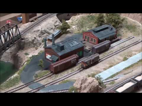 "N scale train layout ""whiskey gulch"""