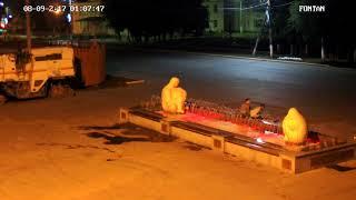 Вандалы испортили фонтан в Кинеле, в ночь на 08.09.2017