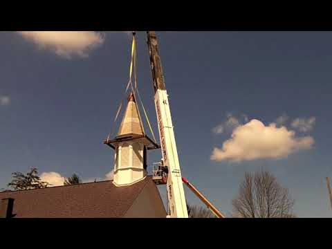 The old Moreland church gets a new steeple