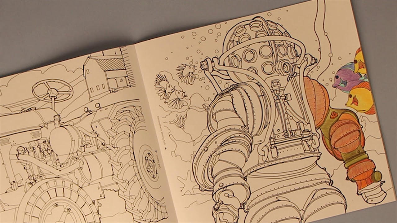 Fantastic Machines Coloring Book by Steve McDonald - YouTube
