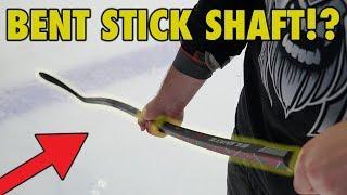 Bent stick shaft! Elevate Hockey Stick first impression pre review