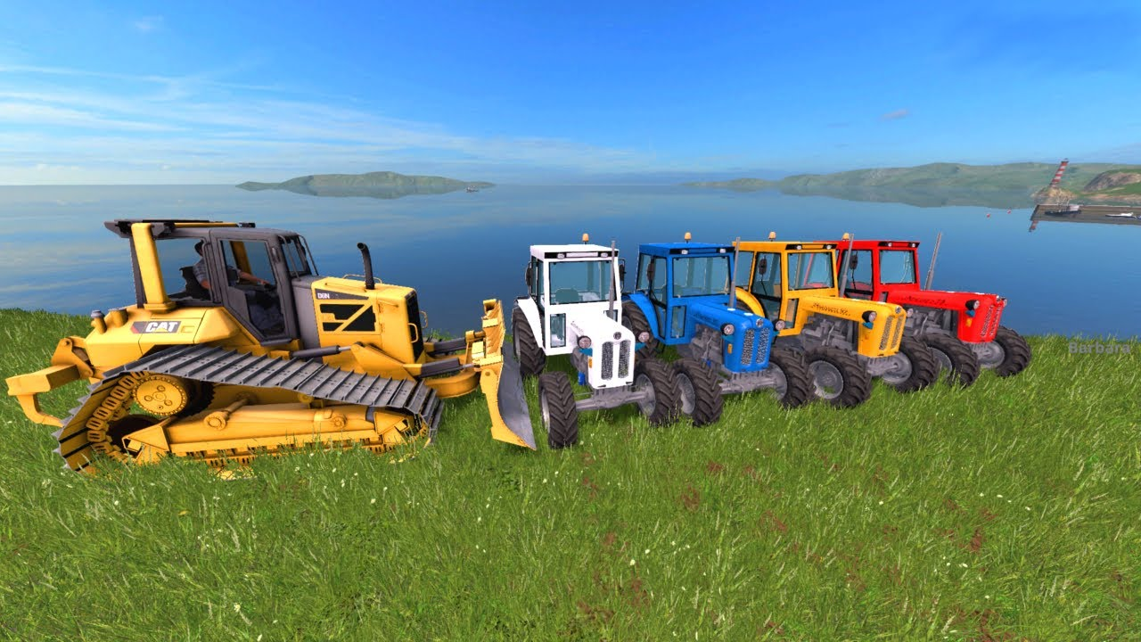 We throw away Old Tractors with a Bulldozer - Agricultural Machinery | Kolorowe Traktory