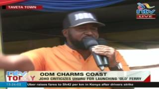 Mombasa governor Hassan Joho fires back at Jubilee government over county projects
