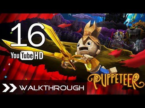 Puppeteer Walkthrough - Gameplay Part 16 (Time's a-Ticking - Act 6 Curtain 1 - Rabbit Boss)