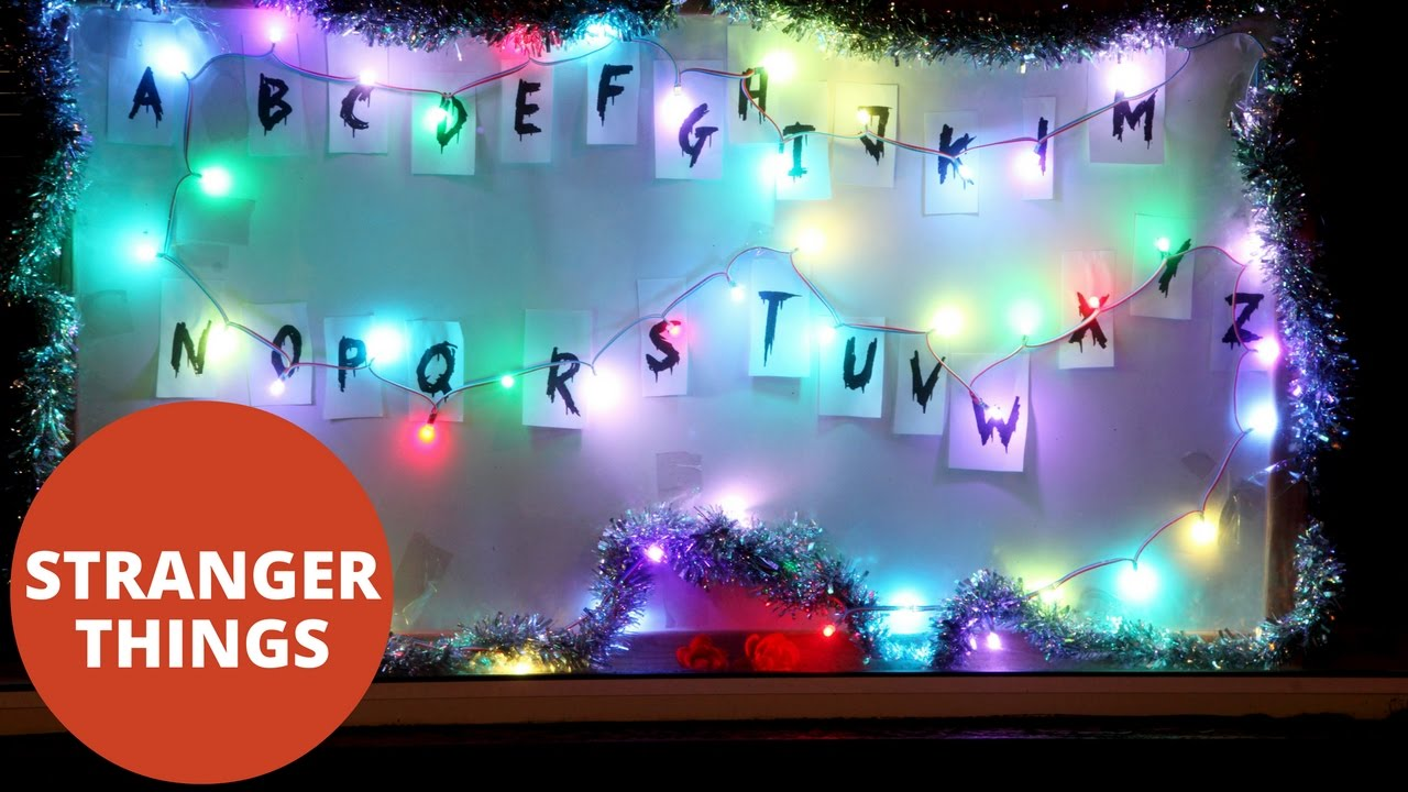 stranger things superfan creates christmas display inspired by the hit netflix show youtube