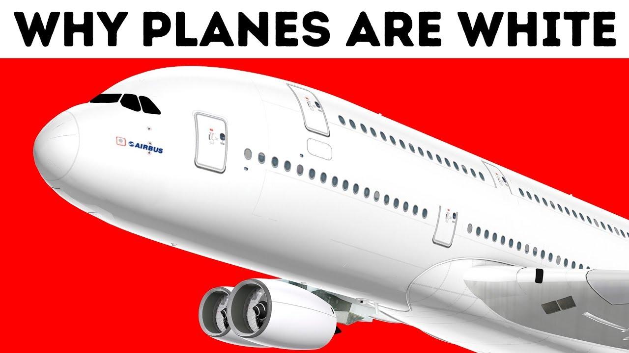 Warum Flugzeuge fast immer weiß sind + video