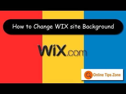How to change Background in WIX