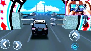 Speed Bumps car Challenge driving Police car with Handcam