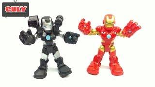 Bộ đội Iron Man & War Machine người sắt đỏ và đen siêu anh hùng Super Heroes Marvel toy đồ chơi