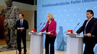 Pressekonferenz: Hannelore Kraft & Sigmar Gabriel zur Landtagwahl in NRW