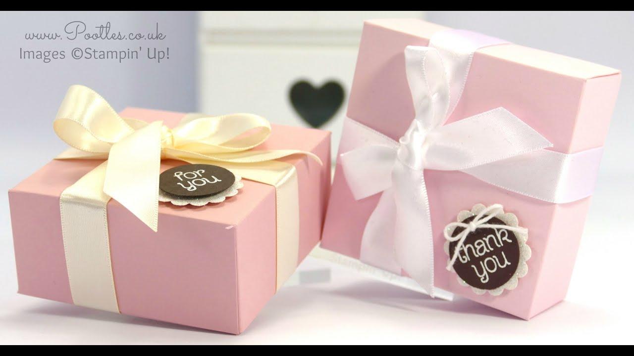Elegant Pink and Brown Box Tutorial - YouTube