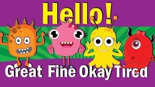 Hello Song Hello How Are You Hello Song For Kids Kindergarten ESL Fun Kids English