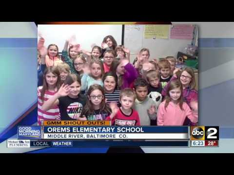 Good morning from Orems Elementary School in Baltimore County