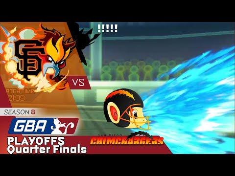 GBA Season 8 Playoffs Quarterfinals - San Francisco GiEnteis vs. San Diego Chimchargers (Emvee)