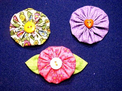 Como realizar flores de tela y cintas 1 5 youtube - Flores de telas hechas a mano ...