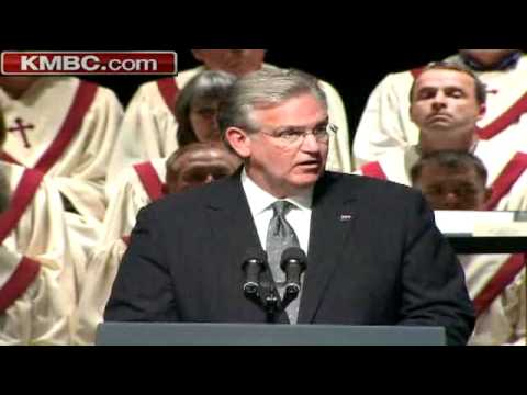 Jay Nixon Speaks At Joplin Memorial