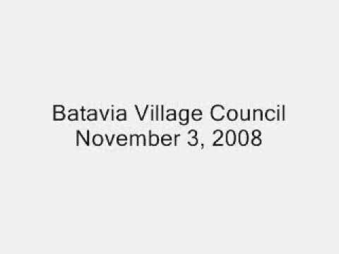 Batavia Village Council, November 3, 2008.wmv
