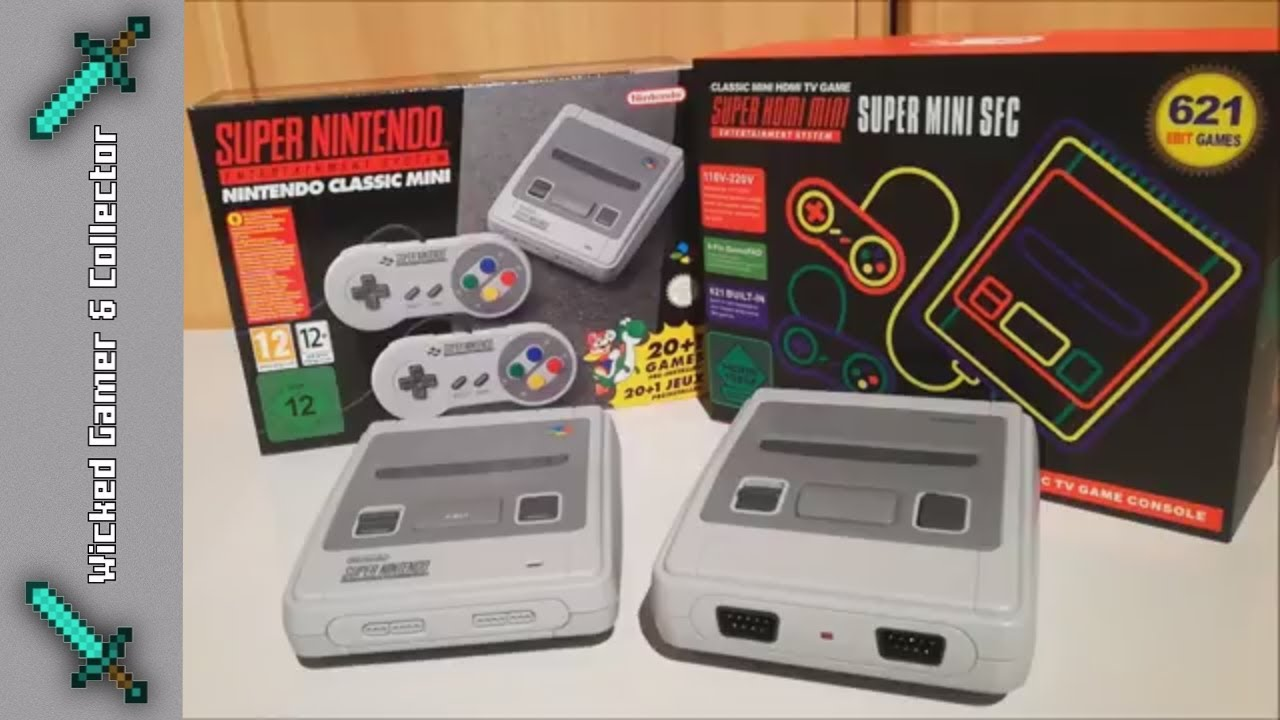 Super Mini Sfc Snes Mini Clone Console 621 In 1 Original Vs