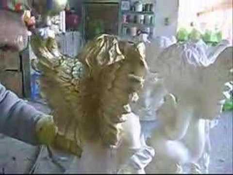 Proceso de artesanias de yeso parte 2 youtube - Angelitos de yeso ...