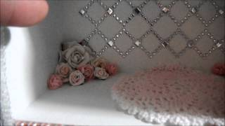Shabby Chic Curio Shelf With Drawers