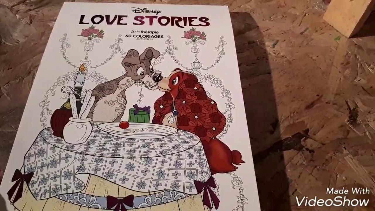 Présentation: Love story Disney art thérapie - livre de coloriages Hachette