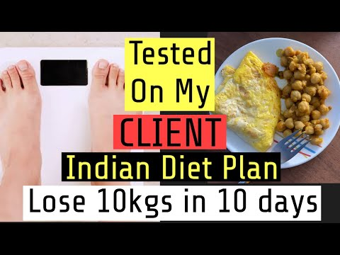 Lose 10kgs in 10 days Diet Plan | Indian Weight loss Diet plan to lose 10kgs | Azra Khan Fitness thumbnail