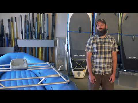 How To Strap Down A Rowing Frame On A Raft