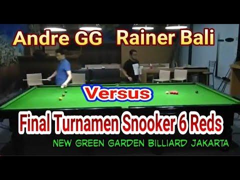 Rainer VS Andre di Final Turnamen Snooker 6 Reds Green Garden Billiard Jakarta 2018
