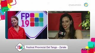 Ana Fontán. TV Publica Argentina. Festival País 19. Tango Zárate.