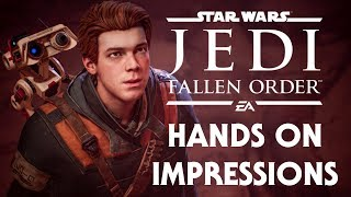 Star Wars Jedi: Fallen Order HANDS ON Gameplay Impressions!