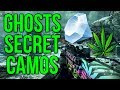 Ghosts Secret Camos - Diamond, Weed, Barbed Wire