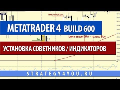 MetaTrader 4 Build 600 - Установка советников / индикаторов